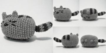 Tutorial: http://icrochetthings.blogspot.com.es/2014/05/free-pattern-pusheen-cat-amigurumi.html